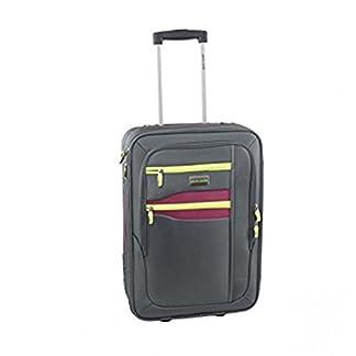 Carro a partir viaje semirrígido maleta PIERRE CARDIN gris el equipaje en la mano avión FG1775G 53x18x34cm
