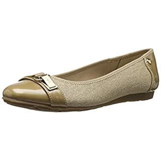 Anne Klein AK Sport Women's Able Ballet Flat, Natural Multi Fabric, 10 M US