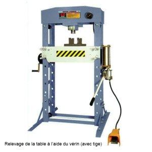 WERTHER Presse datelier hydraulique et pneumatique 50 tonnes piston mobile