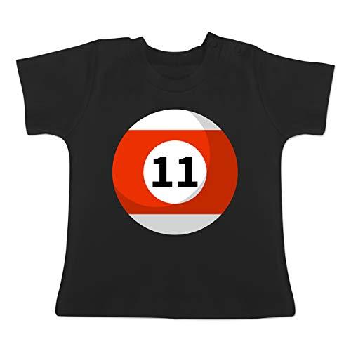g Baby - Billardkugel 11 Kostüm - 1-3 Monate - Schwarz - BZ02 - Baby T-Shirt Kurzarm ()