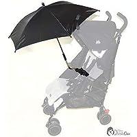 Bebé Sombrilla Compatible con Hauck Sprint velocidad Plus negro
