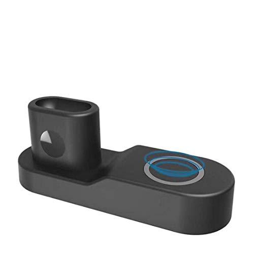 Preisvergleich Produktbild happy event 10W 4 in 1 Schnellladung Kabelloses Ladegerät für iPhone für iWatch Für AirPods (Schwarz)