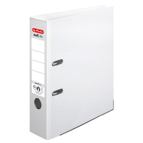 Herlitz 10834364 Ordner maX.file protect+ (A4, 8 cm) weiß