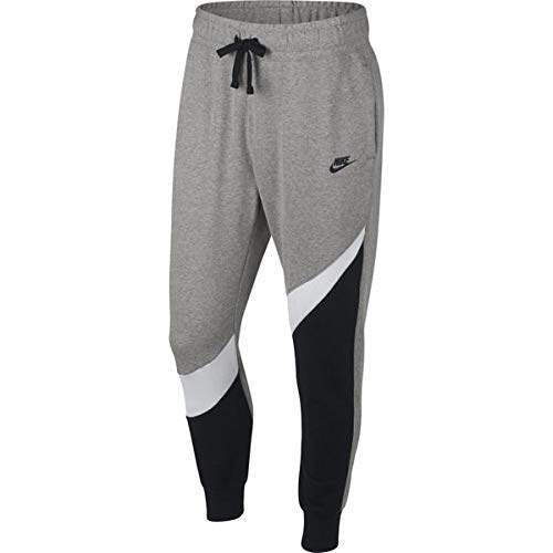 Nike M NSW HBR Pant FT STMT Un Un Pantalon Homme, Black/White/DK Grey Heather/BL, FR : M (Taille...