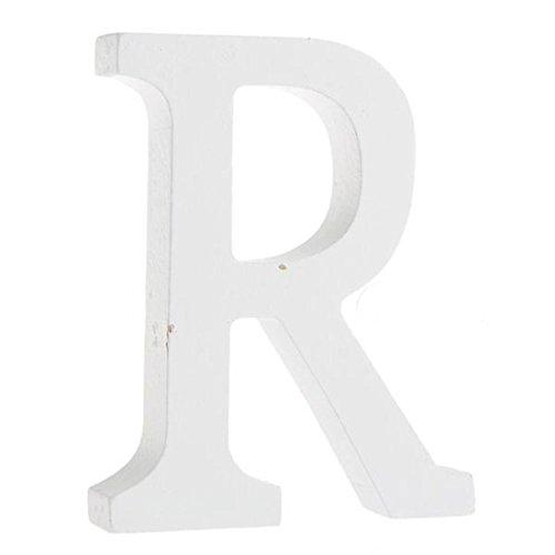 �,Worsendy Handwerk Holz Holz Briefe Braut Hochzeitsparty Geburtstag Spielzeug Home Dekorationen 8*6CM (R) (Handwerk Buchstaben)