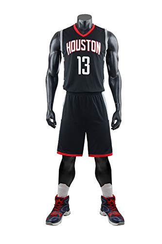 AGAB Herren NBA James Harden # 13 Houston Rockets Retro Basketball Shorts Sommer Jersey Basketball Uniform Tops und Short One Set-XXXL (13 Männer Jordans Retro)