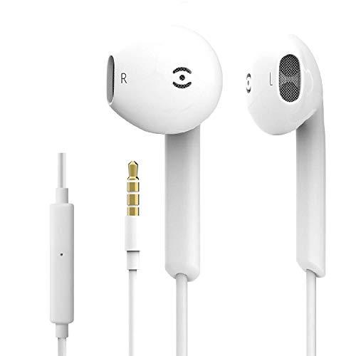 Auricolari con Microfono e Controller, 3.5mm Cuffie con cancellazione del Rumore, in-Ear Auricolare Bassi Potenti Alta Definizione per iPhone6 6s 6 Plus 5 5s 5c 4s 4 Android Smartphone (1 Pack)