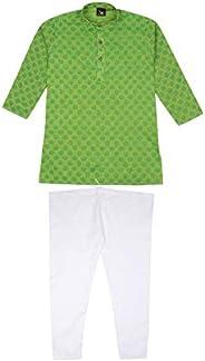 Luckwin Kids Ethnic Pure Cotton Kurta Pyjama Set for Baby Boys[4 Varients]