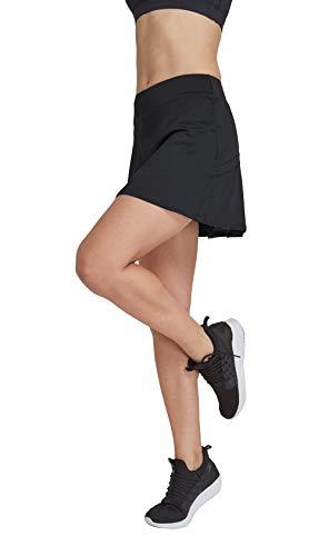 HonourSport Damen Tennisrock mit Sporttights Skirt Minirock Sport Skort XS-XXL