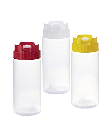 Kerafactum® - 3 Quetschflasche Dosierflasche Squeezebottle Majoflasche Flasche bottle Dosierer 0,47 ml Mix (Tupperware-shaker-flasche)