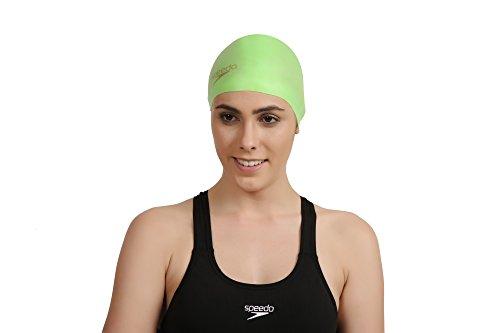 Speedo Mould Silc Cap Au Cuffia Nuoto, Verde Fluo/Oro, Taglia Unica