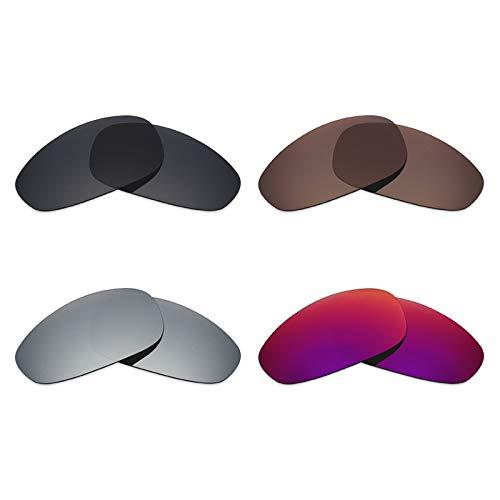Mryok polarisierte Ersatzgläser für Oakley Juliet Sonnenbrille - Stealth Black/Bronze Brown/Silver Titanium/Midnight Sun