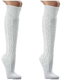 Trachtenstrümpf,Trachten Socken,reinweiß,Wandersocken, Für Wiesn/Wasn Gr. 35-49