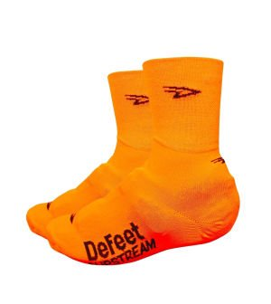 DeFeet ssnor201 Slipstream Neon Orange L/XL (Defeet Bike Socke Speede)