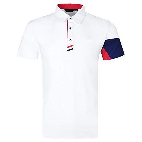 AFDLT 2020 Männer Golf Jersey,Badminton Sport T-Shirts Kurzarm,Sommer Tennis Wettbewerb Ausbildung Kleidung Gehoben Polo Hemd,1,S
