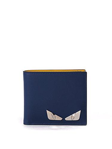 fendi-homme-7m0169o75f07t2-bleu-jaune-cuir-portefeuille