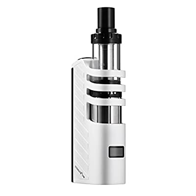 E Cigarette, TESLACIGS 70W Huge Power Vaping Electronic Cigarette Kit with Top Refill Sub 0.28 Ohm Vapour Tank, OLED Screen, with VV/VW function E Cig Vape Pen, No E Liquid, Nicotine Free - Black von TESLACIGS