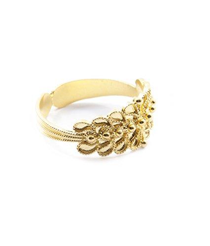 Marrocu gioielli - fede sarda a un filo in filigrana d'oro giallo