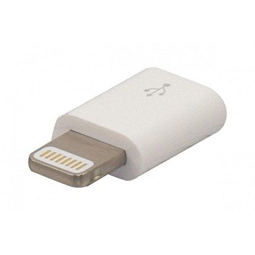 Connect 150006 Cavo di interfaccia e Adattatore Lightning M Micro B Bianco