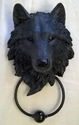 Nemesis Now Türklopfer, Schutzwolf, 13 cm, Schwarz
