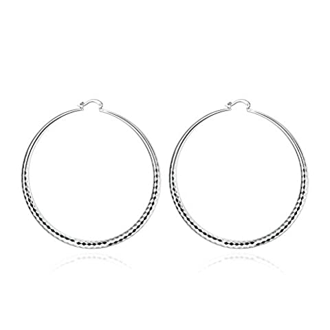 Gnzoe Jewelry Silver Plated Round Earrings For Women Earrings Wedding Anniversary Gift(Gig)