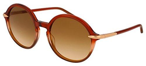 Pomellato pm0036s 002, occhiali da sole donna, marrone (002-brown/brown), 54