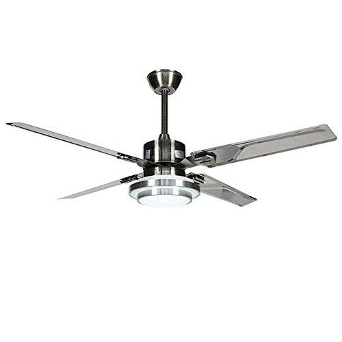 Ventilador de techo silencioso Ventilador de techo con lámpara de hoja 132cm...