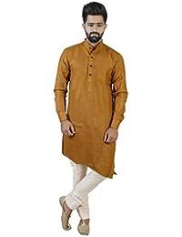 Veera Paridhaan Men's Casual Cotton Solid Full Sleeve Kurta