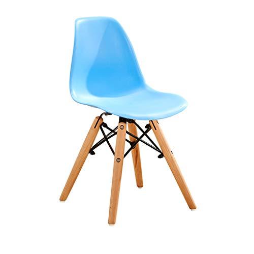 Sedia scrivania per bambini, sedia da pranzo plastica sedia da cucina rosa in legno poltrona bianca grigia, per camera letto, soggiorno, cucina, sala pranzo, caffetteria, bar (30.5*28*57cm)