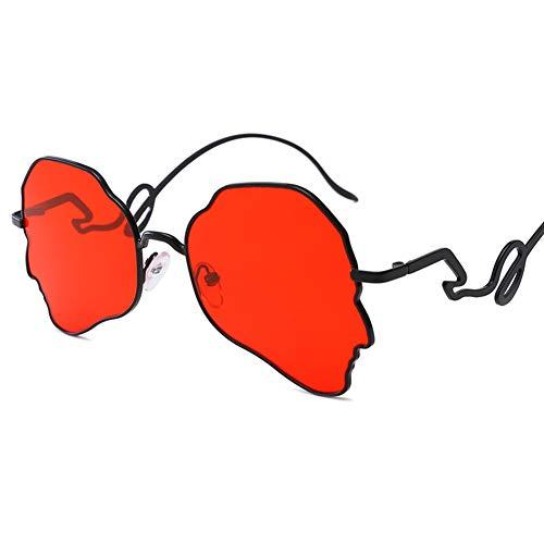 Designer-Sonnenbrille Männer Frauen Horn Umrandete Klassische Retro-Sonnenbrille im Vintage-Stil Voller UV400-Schutz Das flache Licht Unregelmäßiges Polygon-4