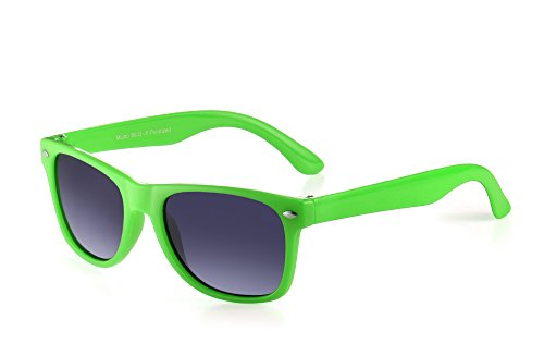 Miuno® Kinder Sonnenbrille Polarisiert Polarized Wayfare Etui 6833a (Grün)