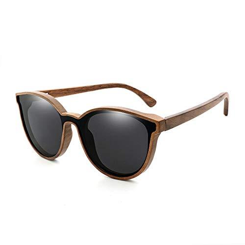Herren Sonnenbrillen Bambus Holz Sonnenbrillen Mode Persönlichkeit Bambus Sonnenbrillen LTJHJD (Color : 01Gray, Size : Kostenlos)