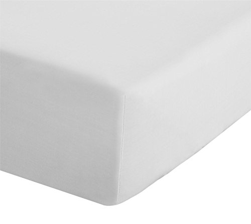 Catherine Lansfield Easy Iron Percale Single Fitted Sheet White