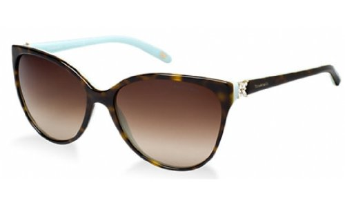 Tiffany & co. tf4089b victoria collection, occhiali da sole adulto, marrone (havana blue 81343b), taglia unica (taglia produttore: one size)