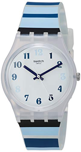 Swatch Orologio Analogico Quarzo Unisex Adulto con Cinturino in Silicone GE275