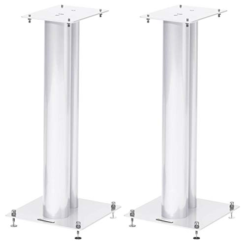 Norstone Lautsprecherständer Stylum, stabil aus Metall, bis 50kg belastbar, Paarpreis (Stylum 2 (60cm), Weiß (matt))