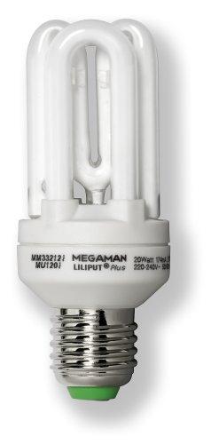 Megaman 575161 ESL LILIPUT PLU Energiesparlampe 20W E27 230V 827