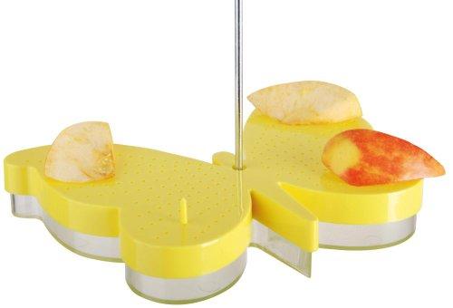 5 Stück Esschert Design Tränke, Futterstation für Schmetterlinge aus Kunststoff mit Haken zum Aufhängen, ca. 23 cm x 17 cm x 5 cm