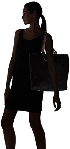 Tamaris Damen Amber Shopping Bag Shopper, 39x38x13 cm Schwarz (black comb 098)