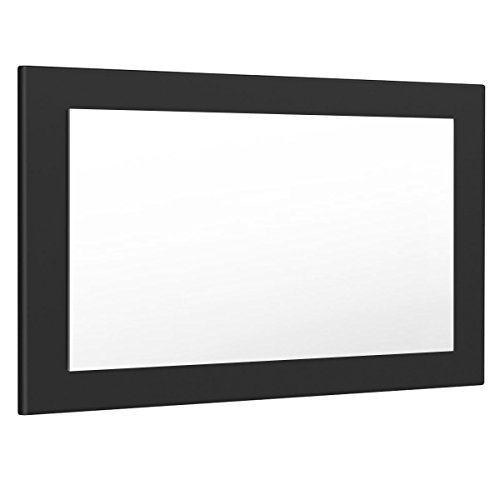 Vladon Espejo de pared Lima 89cm en Negro mate