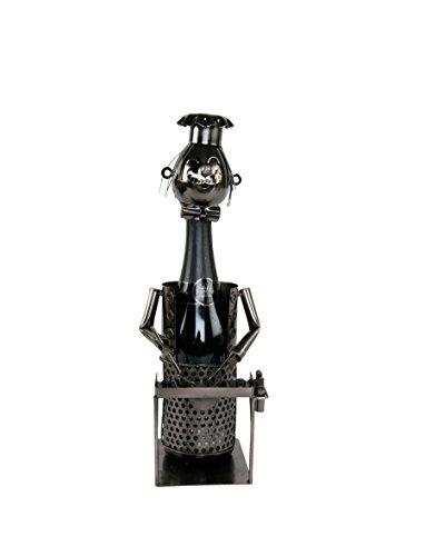 Barbecue Flaschenhalter Metall Weinflaschenhalter Sekthalter Figur Grill Deko