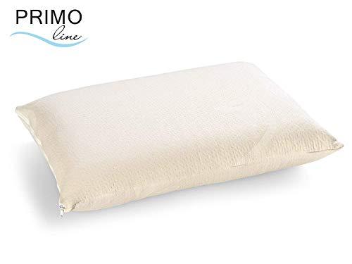 Primo Line Gel con Almohada de látex Classic con extraíble algodón Funda de Almohada, tamaño: 60x 40x 14cm