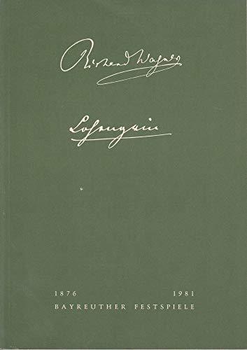 (Programmheft IV Lohengrin Bayreuther Festspiele 1981)