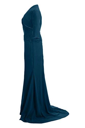 Sunvary Glamour Neu Satin Applikation Meerjungfrau Abendkleider Lang Partykleider mit Jacke 2017 Royalblau