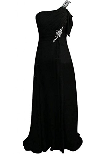 Sunvary Glamorous spalle fondo arricciato, abiti da damigella d'onore, misura Maxi, taglia unica Plus Pink