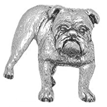Peltro Cane Bulldog Pin Badge or Spilla Regalo for Sciarpa, Cravatta, Hat, Cappotto or Bag