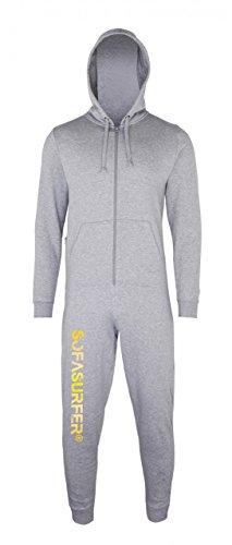 Sofasurfer® Overall Sweatoverall Jumpsuit Jumper mit und ohne Druck heather grey (mit Druck Sofasurfer)
