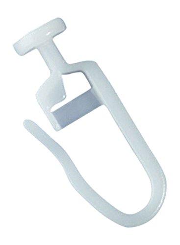 rewagi - (50 Stück Hochwertige Gardinengleiter, Faltenlegehaken - Gleiter mit Rundkopf 7 mm - Innenlauf 4 mm - Farbe: weiß - 25, 50, 100, 200, 500, 1000 Stück (50 Stück)