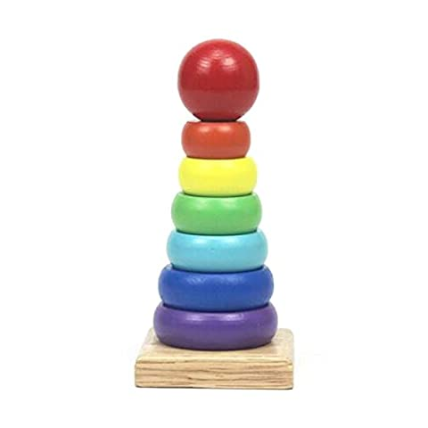 Rainbow Matching Toys Wooden Puzzle Topping-on Sleeves