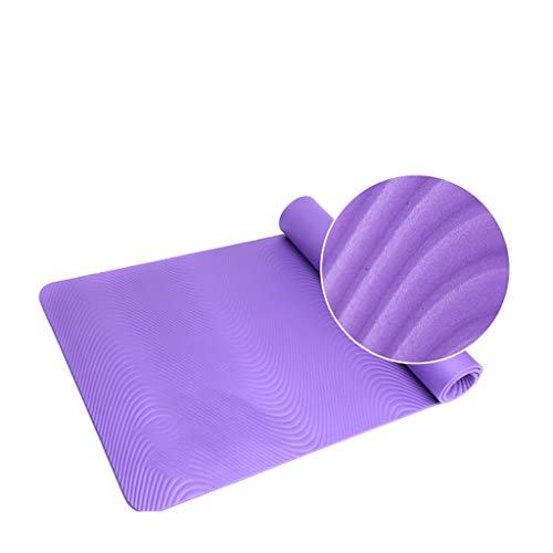 XXHDYR Anti-Rutsch-Fitness-Matte Verdickung Erweitert Männer Sport Flach Unterstützung Yoga-Matte Yoga Matte (Color : Purple, Size : 173cmX 61cm)